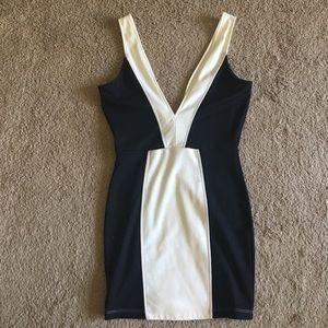 Nasty Gal Black and White Dress